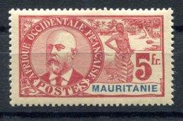 RC 17276 MAURITANIE COTE 175€ N° 16 - 5f BALLAY NEUF * TB MH VF - Mauritanie (1906-1944)