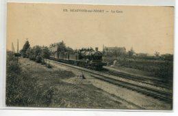 79 BEAUVOIR Sur NIORT Locomotive Train Partant De La Gare Des Voyageurs Campagne  No 972 -  1910   D10 2020 - Beauvoir Sur Niort