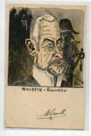 ILLUSTRATEUR THUG  Politique Satirique Portrait WALDECK ROUSSEAU   1902 Timb     D10  2020 - Autres Illustrateurs