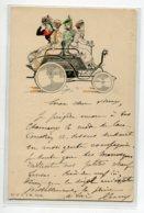 ILLUSTRATEUR F . CHAMOUIN No 37 A.I.H   Automobile Et Ses Passageres Elégantes Jeunes Femmes  D10 2020 - Autres Illustrateurs