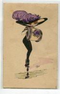 ILLUSTRATEUR PLUM Elégante Jeune Femme Manchon Fourrure Et Grand Chapeau Plumes Mode écrite Timb G.H Paris    D10 2020 - Autres Illustrateurs