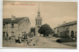 88 CHATILLON Sur SAONE Femmes à La Fontaine Place Et Rue De L'Eglise 1911 écrite  - No 6 Edit Maugras    D10 2020 - Francia