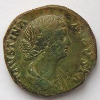 Faustine Junior, Faustina Minor, Sesterce, R/ MATRI MAGNAE SC, TB - 3. Die Antoninische Dynastie (96 / 192)
