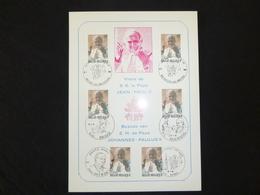 """BELG.1985 2166 FILATELIC CARD  : """" PAPE JEAN-PAUL II """" - FDC"""