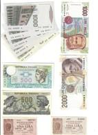 11 Banconote Da 1 Lira A 2000 Lire Spl+/q.fds LOTTO 3239 - [ 2] 1946-… : République
