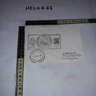 FB1071 AFFRANCATURA MECCANICA ROSSA UNIFIL LEBANON POLLOG U.N. BASE P.O. NAQURA LEBANON 1996 - Machine Stamps (ATM)