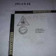 FB1081 AFFRANCATURA MECCANICA ROSSA UNIFIL POLLOG LEBANON U.N. BASE P.O. 1996 NAQURA LEBANON AEROGRAMME - Machine Stamps (ATM)