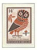 NB - [152086]SUP//**/Mnh-[2029] Belgique 1981, Culturelle, La Pensée Et Les Hommes, Oiseau D'une Monnaie Grecque, Hibou, - Owls