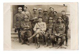 CPA 2910  MILITARIA - Carte Photo Militaire - Officiers Avec Médailles Du 7è Rgt De Tirailleurs à DIANT - Cdt De MIRON ? - Personnages