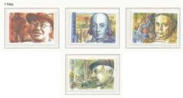 NB - [152635]TB//**/Mnh-N° 2225/28, Personnalités Belges, Peintre, Savant, écrivains, SC, SNC - Neufs