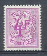 NB - [151206]SUP//**/Mnh-[1703] Belgique 1974, 4F Lilas-rose, Lion Héraldique, SNC - 1951-1975 Heraldieke Leeuw