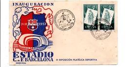 ESPAGNE EXPO PHILA INAUGURATION STADE DU F. C. BARCELONE 1957 - Non Classés