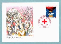 Carte Maximum 11996 - Croix Rouge 1996  - YT 3039 - Paris - Maximum Cards