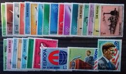 SAINT-MARIN ANNEE COMPLETE 1964 N° 615 à 641 COTE 10 € NEUFS ** MNH  27 VALEURS - San Marino