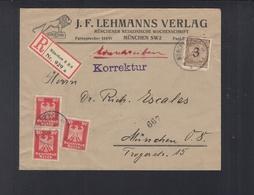 Dt. Reich R-Brief München 1924 - Storia Postale