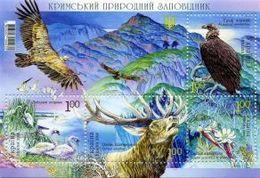 UKRAINE/UKRAINA 2008 MI.973-976**,Yvert BF 59, Fauna. Environment. Crimea Natural Reserve Animals - Miniatur Sheet - MNH - Other