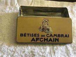 Boîte Enfer Bêtises De Cambrai AFCHAIN  En Bonnne état Boîte Vide Bêtises De Cambrai - Boxes