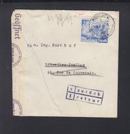 Dt. Reich Brief 1941 München Nach Belgien Zensur Drucksache Beanstandet - Germany