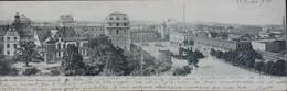 Carte Géante De DARMSTADT (vom Museum Geseehen) -vue Panoramique - Voyagé En 1905 - Darmstadt