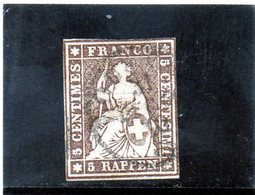 CG23 - 1857/62 Svizzera - Elvezia Seduta - 1854-1862 Helvetia (Ungezähnt)