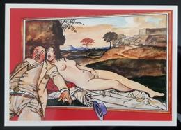 Rare Milo Manara Exibition 1994 Carte Postale - Comics