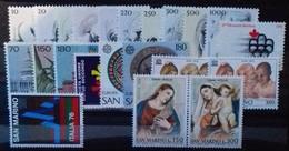 SAINT-MARIN ANNEE COMPLETE 1976 N° 908 à 929 COTE 11,75 € NEUFS ** MNH  22 Valeurs - San Marino