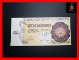 POLAND 200.000 200000 Zlotych 1.12.1989 P. 155 RARE   UNC - Pologne
