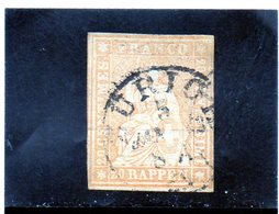 CG23 - 1854 Svizzera - Elvezia Seduta - 1854-1862 Helvetia (Ungezähnt)
