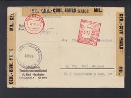 Alliierte Besetzung Brief 1945 Mannheimer Versicherung Zensur Freistempel - American/British Zone