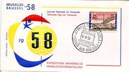 14158155 Belgium 19580816 Bx Expo58; Journées Du Vénézuela; Pli - 1958 – Brussels (Belgium)