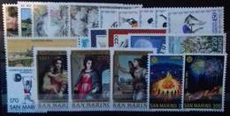 SAINT-MARIN ANNEE COMPLETE 1980 N° 1004 à 1025 COTE 17,45 € NEUFS ** MNH  22 Valeurs - San Marino