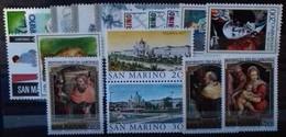 SAINT-MARIN ANNEE COMPLETE 1981 N° 1026 à 1042 COTE 14,50 € NEUFS ** MNH  17 Valeurs - San Marino