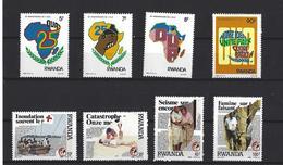 Rwanda: 1333/ 36 + 1338/ 41 ** - Ruanda