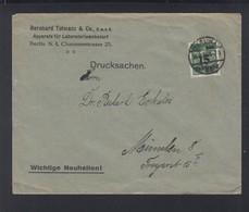 Dt. Reich Brief 1923 Berlin Nach München EF Aufdruck - Deutschland