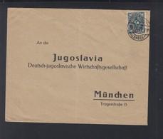Dt. Reich Brief 1923 An Jugoslavia Dt-jugoslavische Wirtschaftsgesellschaft - Deutschland