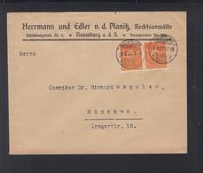 Dt. Reich Brief 1922 Naumburg Nach München - Deutschland
