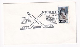 USA 1988 Cover: Ice Hockey Sur Glace Eishockey; Winter Olympic Games Calgary; Bepex - Jockey (sobre Hielo)
