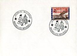 14158167 Belgium 19580907 Bx Expo58; Journée Wallonne; Coq; Pli - 1958 – Brussels (Belgium)