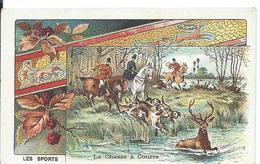 CHROMO... FARINE LACTÉE SALVY    LES SPORTS ... LA CHASSE A COURRE - Trade Cards