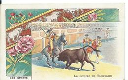 CHROMO... FARINE LACTÉE SALVY    LES SPORTS ... LA COURSE DE TAUREAUX - Trade Cards