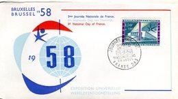 14158169 Belgium 19580926 Bx Expo58; 3e Journée De La France; Pli - 1958 – Brussels (Belgium)