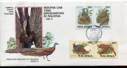 Malaysia Mi# 317-20 FDC - Fauna Birds - Maleisië (1964-...)