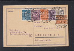 Dt. Reich GSK Mit ZuF 1923 Darmstadt Nach München - Deutschland
