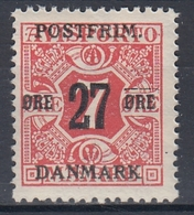 +M296. Denmark 1918. Surprinted Due Stamps. Michel 86Y. MNH(**) - 1913-47 (Christian X)