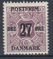 +M297. Denmark 1918. Surprinted Due Stamps. Michel 88Y. MNH(**) - 1913-47 (Christian X)