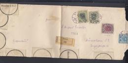 Dt. Reich Grossbrief 1921 Pitten Nach München Beschädigt Eingegangen - 1918-1945 1. Republik