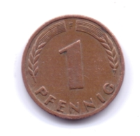 Bank Deutscher Länder 1949 F: 1 Pfennig, KM A101 - [ 7] 1949-… : RFA - Rep. Fed. Alemana