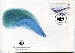 Chile Mi# 1067 FDC - Fauna WWF Whale - Chile