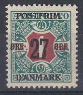 +M303. Denmark 1918. Surprinted Due Stamps. Michel 94. MNH(**) - 1913-47 (Christian X)
