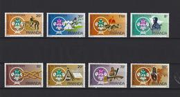 Rwanda: 1253/ 1260 **  Scoutisme - 1980-89: Neufs